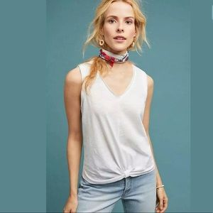 ANTHRO BORDEAUX WHITE GATINEAU KNOTTED TANK L